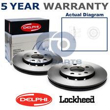 2x Front Delphi Lockheed Brake Discs For Citroen Peugeot BG3620
