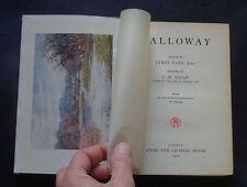 GALLOWAY by J Sloan: Scotttish Borders / History / Wigtown Bay / Scottland 1908