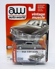AUTO WORLD 1964 PLYMOUTH BARRACUDA Vintage Muscle Die-Cast RAW CHASE / MOC 2015