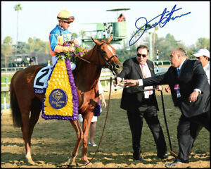 JAVIER CASTELLANO AUTOGRAPHED 8X10 PHOTO PICTURE JOCKEY KENTUCKY DERBY GTP JSA