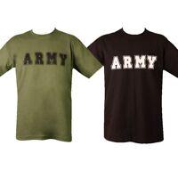 ARMY T-SHIRT S M L XL 100% COTTON MENS TOP MILITARY BRITISH US CADET SOLDIER