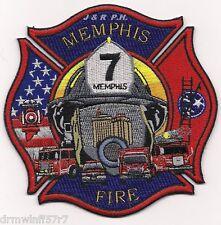 """Memphis  Battalion - 7, TN  (4.5"""" x 4.5"""" size) fire patch"""