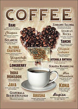REPRINT PICTURE of coffee varieties sign BANI CHIAPAS INDIA ARABIAN SUMATRA 5x7