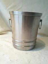 MID CENTURY RETRO STAINLES STEEL ICE BUCKET BY VINERS WITH HEAVY RIM