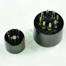Bakelite Vacuum Tube Saver Socket Testing 1pc 9pin Fr 12AX7 + 1pc 8pin Octal DIY