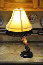 """A Christmas Story Fishnet Leg Lamp Replica 20"""" Full Leg Desktop"""