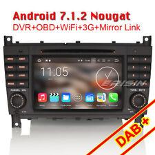 Android 7.1 GPS Car Stereo DVB-T CD DAB Mercedes Benz C/CLK Class W203 W209 C200