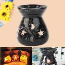 Schwarz Spa Duftöllampe Keramik Duftlampe Aromalampe Teelicht Aroma Duftöl Lampe