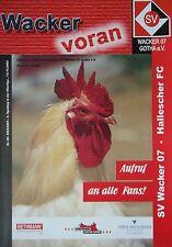 Programm 2002/03 SV Wacker 07 Gotha - Hallescher FC