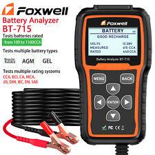 12V&24V Car Battery Analyzer Tester AGM/GEL 100 to 2000CCA Foxwell BT-715 US