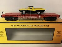 ✅MTH RAILKING SOUTHERN AUTO CARRIER FLATCAR & '47 FORD RANCHERO! FOR O GAUGE SET