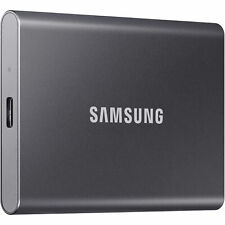 Samsung 500 GB Portable SSD T7 Flash Memory External Solid State Drive - Gray