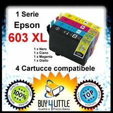 4 Cartucce Compatibili Epson 603 XL Stella Marina XP-2100,3100,WF-2810,2830,2835
