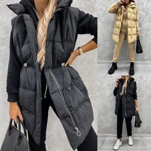 Womens Quilted Padded Waistcoat Jacket Puffer Sleeveless Gilet Vest Bodywarmer