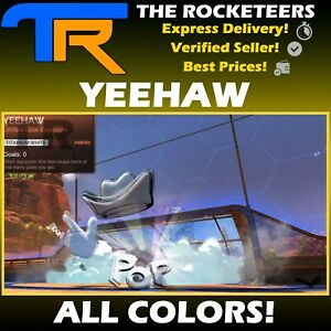 [PC] Rocket League Every YEEHAW Limited Goal Explosion Rocket Pass 10 White etc.