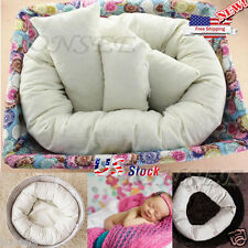 4PKS/Set Baby Newborn Photography Pillow Basket Filler Donut Posing Props US Y5