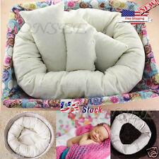 4PKS/Set Baby Newborn Photography Pillow Basket Filler Donut Posing Props US Y5