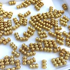 INTERESTING GOLD TONE METAL BEADS LOT BEAD FINDINGS JEWELRY MAKING CRAFTING USE