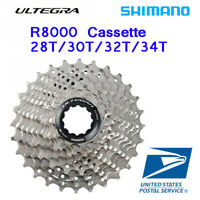 Shimano Ultegra CS R8000 Cassette 11-28T 30T 32T 34T 11 Speed Sliver