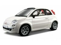 FIAT 500 Cabrio 1:24 scale diecast model diecast models toy car white miniature