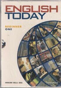 ENGLISH TODAY - Beginner one - 1 - course book - CD - DVD - libro