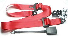 Roter 3-Punkt Statik-Sicherheitsgurt , red Seatbelt Fiat 500 , 600 , 850 , 124