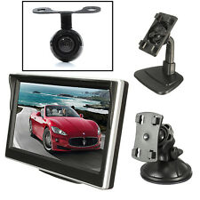 "5"" LCD Car Night Vision Rear View Reversing Backup Camera Monitor Screen Parking"