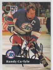 Autographed 91/92 Pro Set Randy Carlyle - Jets
