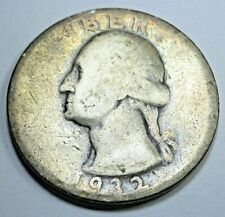 1932-D Key Date US Silver Quarter Dollar 25 Cent Antique Old Currency Coin Money
