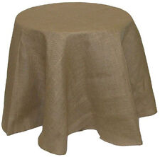 Tablecloth Burlap Natural Round 96 Inch By Broward Linens