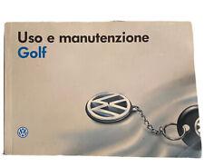 Libretto Uso E Manutenzione Volkswagen Golf 3