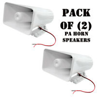 """Pack of (2) New Pyle PHSP5 65W 8"""" Indoor / Outdoor PA Horn Speakers W/ Hardware"""