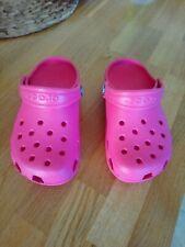 Genuine Girls Pink Crocs, Size Kids 10 unworn