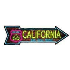 """Outdoor/Indoor Neon Route 66 California Novelty Metal Arrow Sign 5"""" x 17"""""""