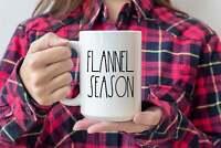 Flannel Season RaInspired Mug Christmas Coffee Cups Ink Printed