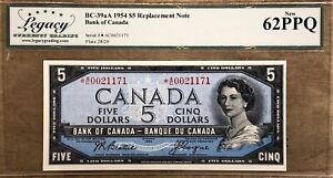 1954 Bank of Canada $5 Replacement - Legacy Choice New UNC 62 PPQ    *A/C0021171