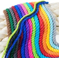 Strong Natural Twisted 3 Strand Cotton Rope Artisan Cord Soft Assorted Colors