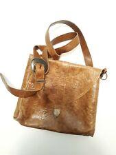 Vintage Western Brown Textured Leather Shoulder Bag/ Crossbody Bag