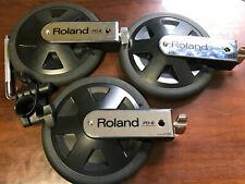 Roland Pd-8a V-Drum Single Trigger Pads 3 Pack O4H6551, O4H6545, & O4H6546 -Used