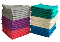 Cheap Hand Towels 375 gsm Budget Quality 100% Cotton 12 Pack Choice of 6 Colours