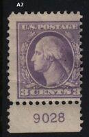 1918 Sc 530 MHR plate number single  Hebert CV $10