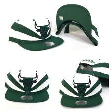 Mitchell & Ness NBA Chicago Bulls Kelly Green / White Slash Cut snapback Hat Cap