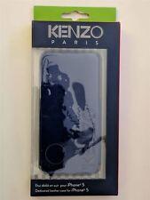 KENZO Flip Case pour la Apple iPhone 5/5S et 5SE avec brillant en cuir bleu