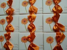NEW- Handmade Pocketfold Wedding invitation x 10 Daisy Gerbera Flower bow
