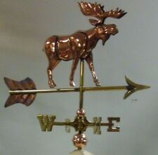 3d copper moose weathervane / roof mount for a shed or small building 19''x21'&# 039;