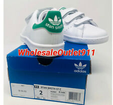 New Adidas Little Kids Originals Stan Smith 2 Sneakers Shoes FREE PRIORITY SHIP