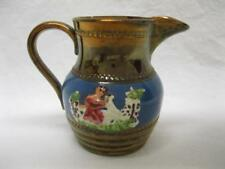 Antique Staffordshire Copper Luster Pitcher Animals English Old Vtg Allertons
