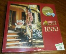"Wrebbit Perfalock ""Victorian Memories"" 1000 Pc Puzzle American Flag - Sealed!"