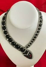 Butler and Wilson Black Glass Snake Necklace Serpent