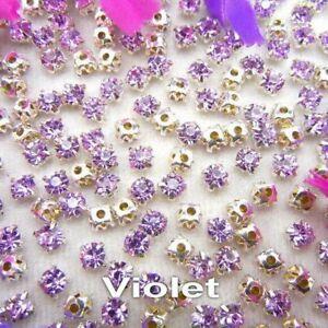 Colorful Glass Crystal Bead Sew Rhinestone Beads DIY Bags Wedding Dress Jewelry